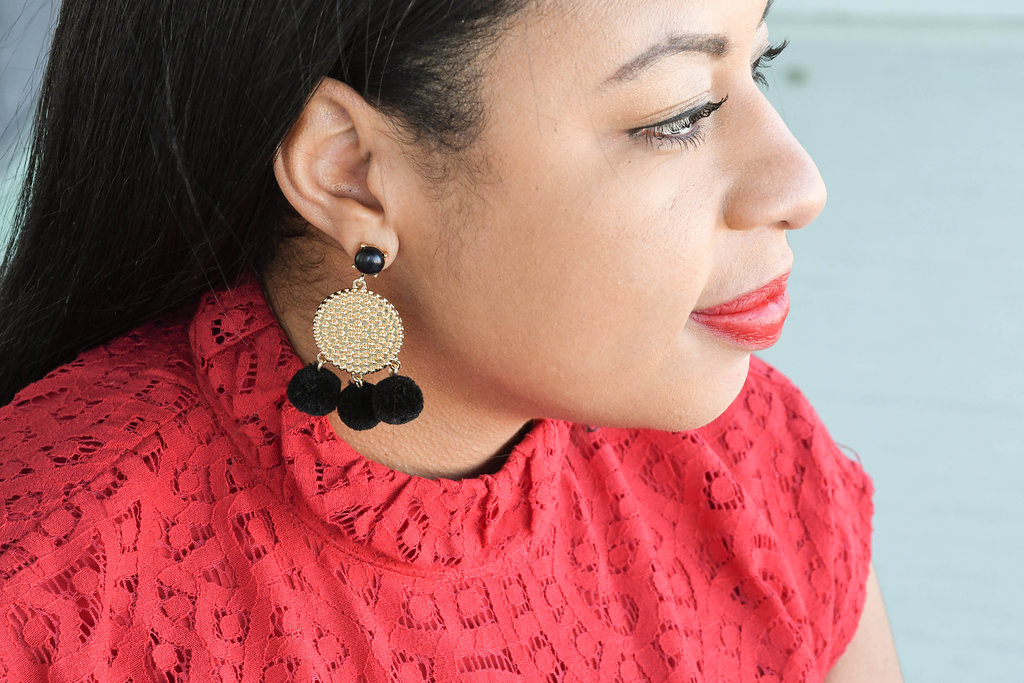 Sugar Fix Pom Earrings by Bauble Bar