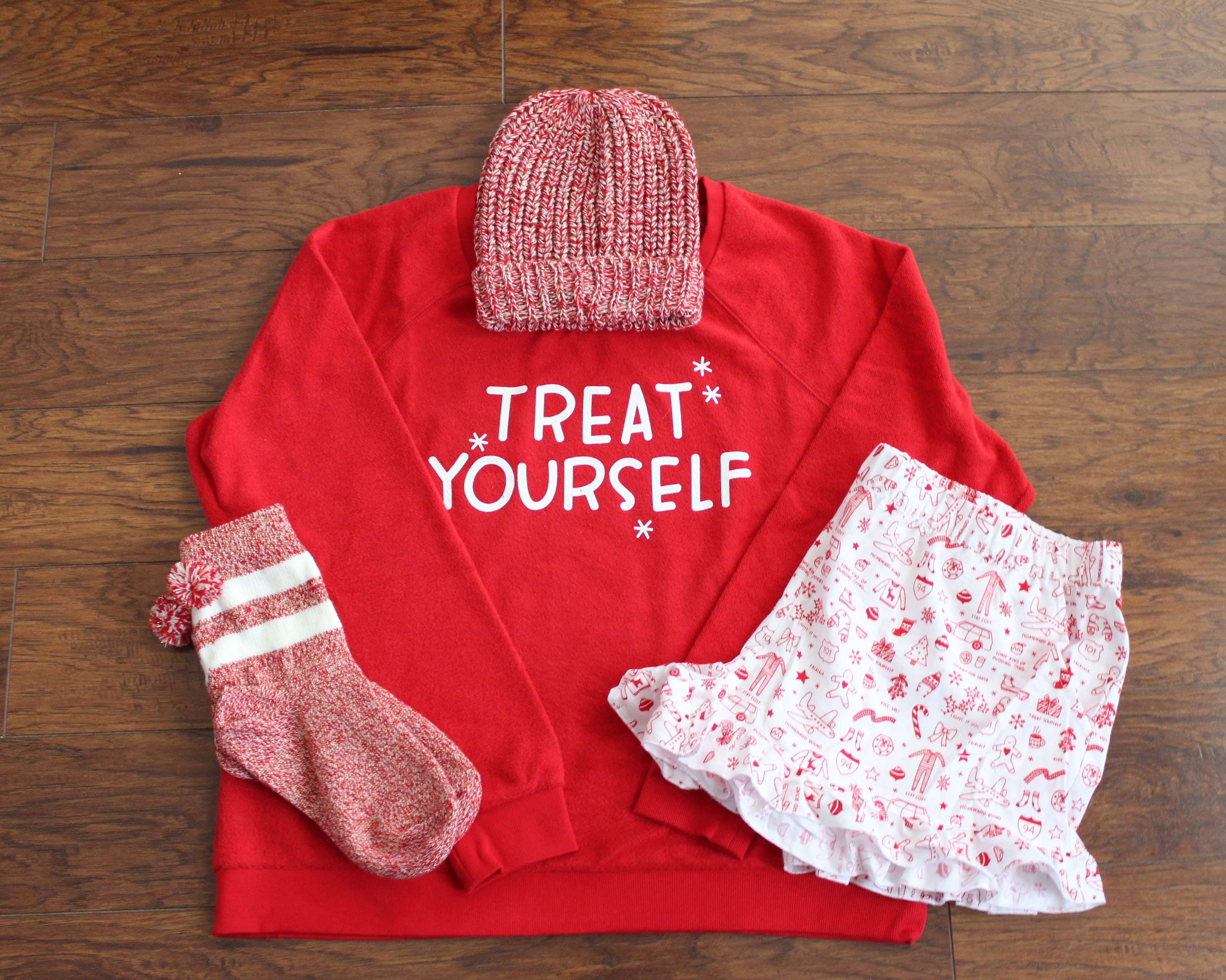 Treat Yourself 4 piece pajama set by Xhilaration